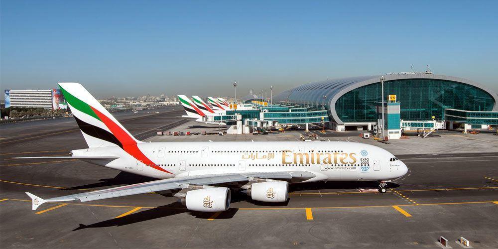 Ein Airbus A380 von Emirates Airlines an seinem Heimat Flughafen Dubai. Foto: Emirates Airlines
