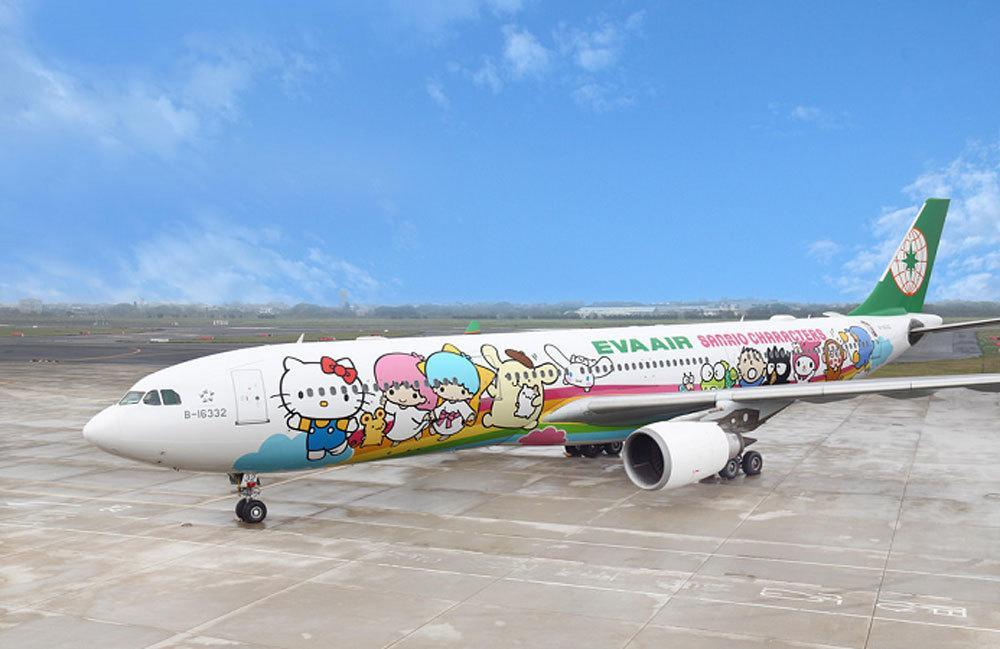 Airbus 330-300 in der Hello Kitty Livery Foto: EVA Air