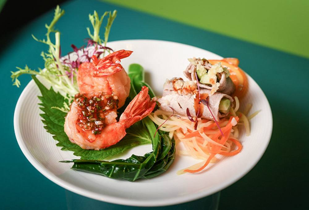 Die neuen Thai Style Shrimps sind schon sehr appetitlich. Foto: EVA Air