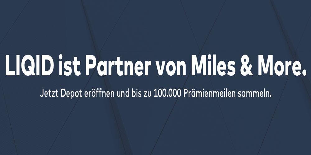 Bis zu 100.000 Lufthansa Miles & More Prämienmeilen bei Abschluss eines Liqid Depots. Foto: Liqid