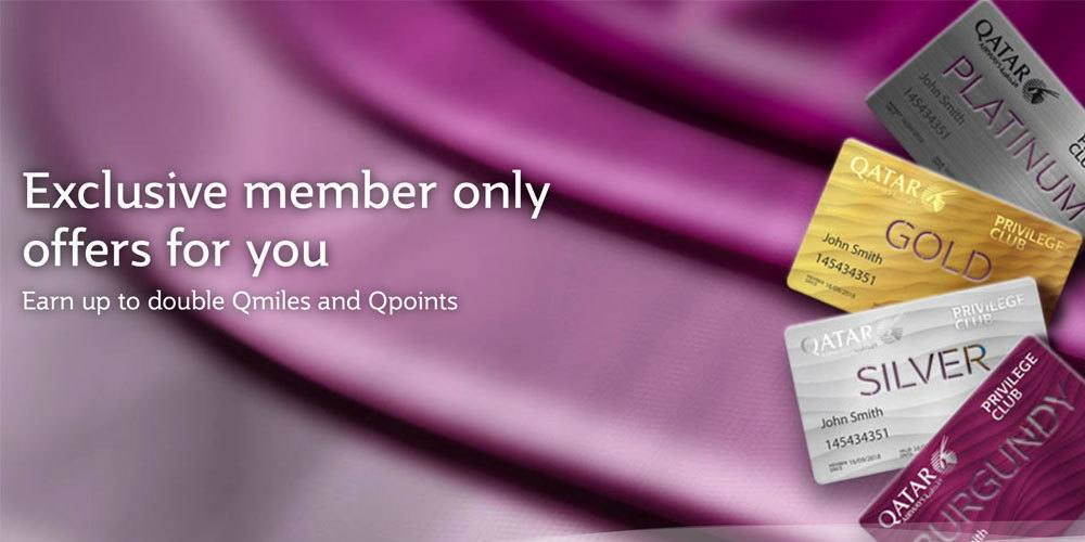 Qatar Flüge bringen doppelte Qmiles and Qpoints beim Privilege Club. Foto: Qatar Airways